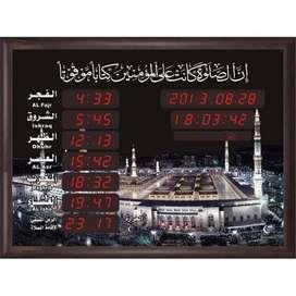 Jam Digital Azan Sholat Dinding Masjid Al Haram 50X 70 Promo