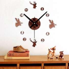 neww Jam Dinding DIY Giant Wall Clock Quartz Creative Design 30-60cm -