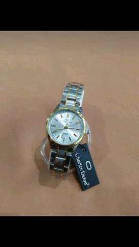 jam tangan charles Delon white ada goldnya 32mm