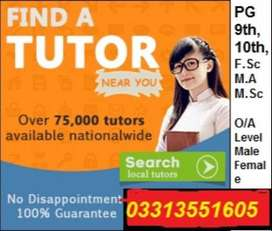 Male/Female teachers required for Home Tuition for all classes