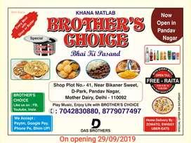 Cook for new opening restaurant in pandav nagar Delhi