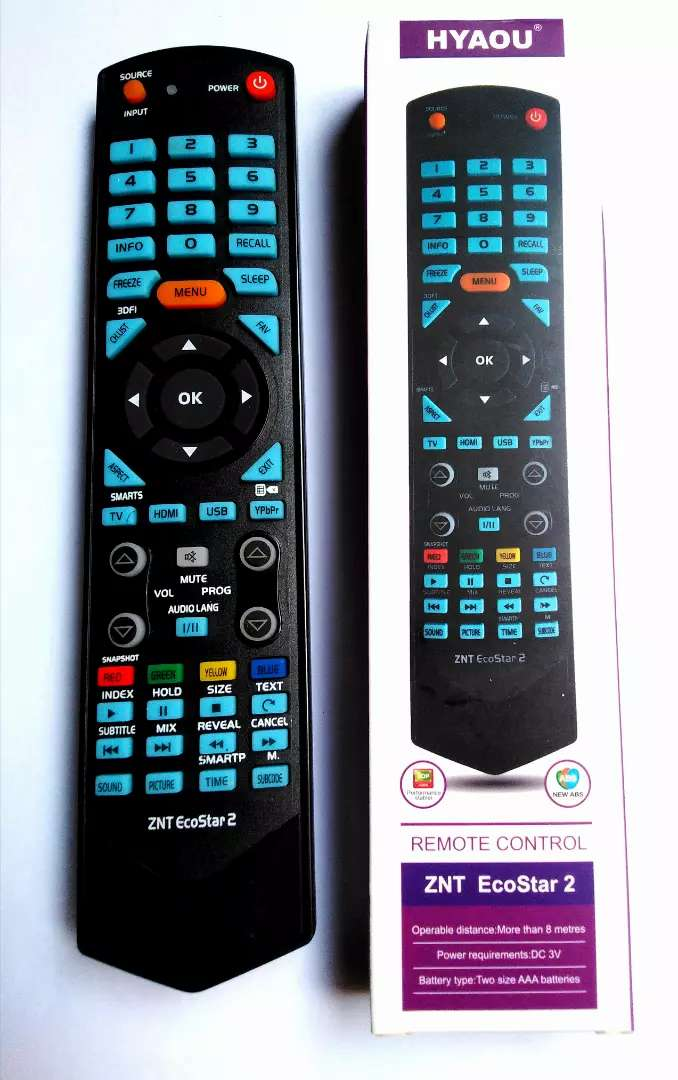 ECOSTAR LED TV AND LCD REMOTE USE FOR ALL MODELS 0