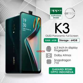 Termurah Oppo K3 Ram 6Gb Internal 64Gb Camera pop-up terbaru