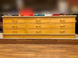Dressing table drawer console table with mirror