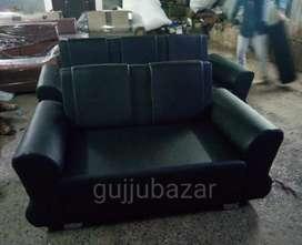 Black 3+2 sofa set model 732