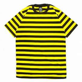 Kaos Garis kuning hitam Highwest