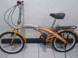 Sepeda lipat odessy ukuran 20