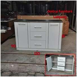 Kitchen set bawah 3 pintu white glossy