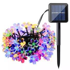 Lampu Hias Dekorasi 50 LED 7 Meter with Solar Panel - M072