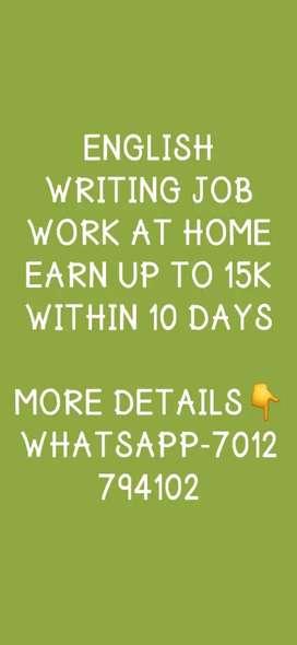 English Writing Job
