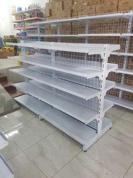 Rak minimarket, meja kasir, eks indomart alfamart cat ulang Bandung