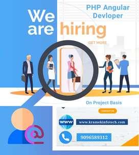 Need Urgent PHP Angular Devloper on Project Basis