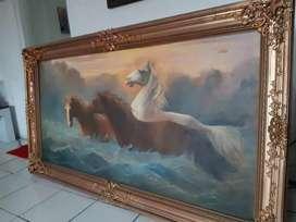 Lukisan kuda tahun   lama elegant