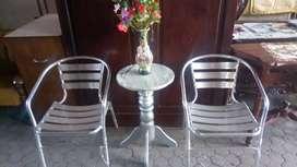 Jual meja stenlis untuk santai/teras