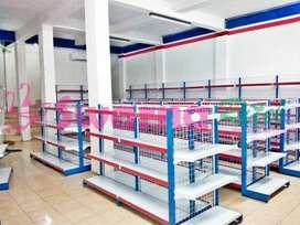 Rak minimarket dan perlengkapan kasir di Jambi