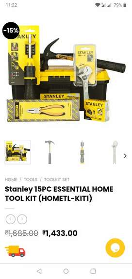 Stanley Tool Box with Tools (New Unused)