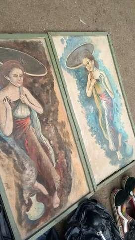 Lukisan jadul antik borongan