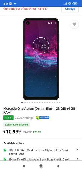Motorola one action seal packed