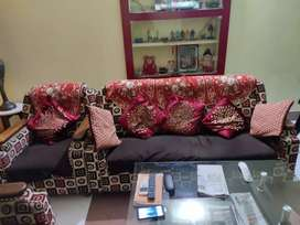 Wooden Sofa set ( without coffee table)