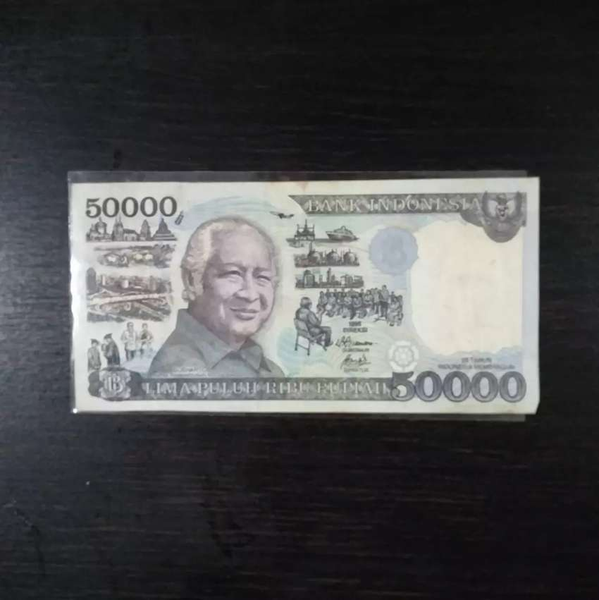 Uang Kuno Kertas Suharto Indonesia 0