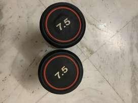 7.5 kg dumbell set