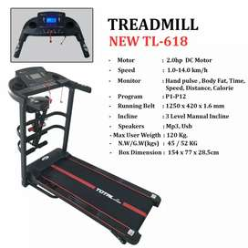 TL 618 ELektrik TOTAL Treadmill black edition