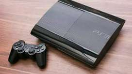 Ps3 super slim 500 gb with 10 games and two controllers