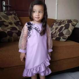 Baju dress dot id anak cewe