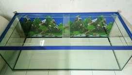 Aquarium baru tebal kaca 8mm ukuran 150x65x50