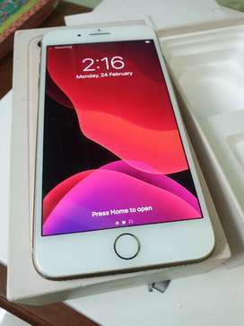 Apple iphone 8Plus Gold 64gb with Full kit