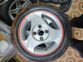 13 inch Used Alloy 4x100PCD ( No Tyre)