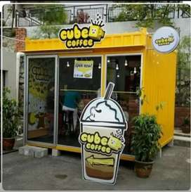 BOOTH SEMI CONTAINER FOODCURT CONTAINER FRENCHISE KEKINIAN