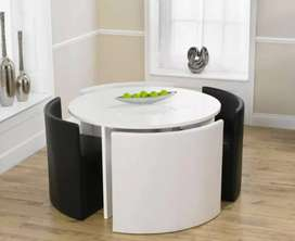 Compact  12 different designs of round dining table for small space