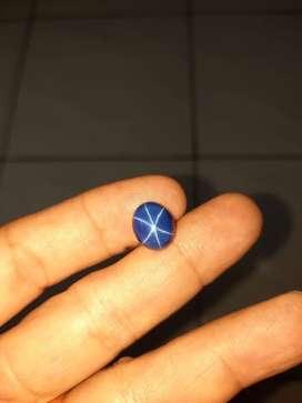 Sintetik blue sapphier star 6 tajem