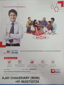 HDFC life sales executive on roll job
