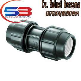 Fitting Compresion HDPE Coupler Baru