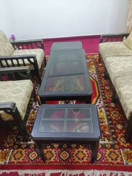 5 seater sofa set and tables