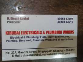 Plumbing and electrical works