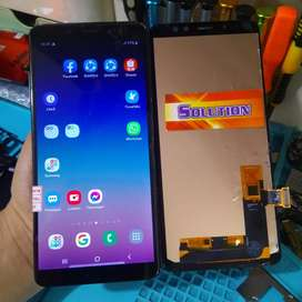 Lcd Touchscreen Samsung A8 Plus Oled 2 + Pasang
