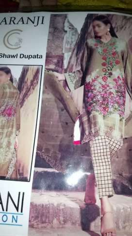 Shawl duppata front emriody soft lown
