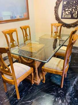 Dining Table Pure Teak Wood 6 seater