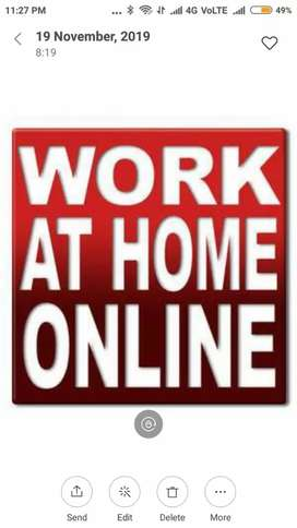 Work from home opportunity to all