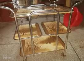 Tea Trolley 3 Portion cardboard and steel Light weight
