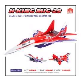 Pesawat RC Jet H-King Mig-29 Glue N Go 65cm Foamboard
