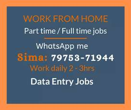 Data Entry jobs for Students, Housewives. Earn weekly 4000 to 7000