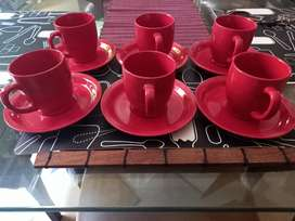 Brand new Tea cups set in Red colour.