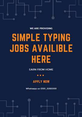 Simple typing job offers to students help them earn in part time