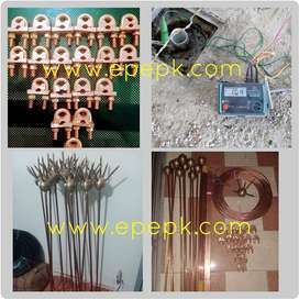 Earthing Lightning arrester Protection specialist earth bore earth rod