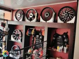Bike accessories and helmet shop