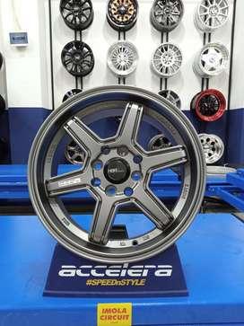 Velg mobil Fiesta Ring 15 HSR Minas Lubang 4x100 & 4x114,3